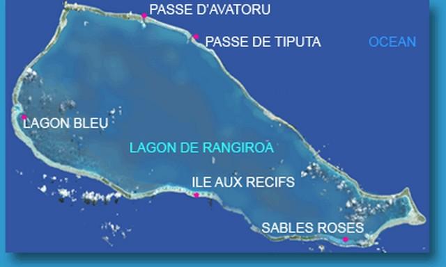 map of rangiroa