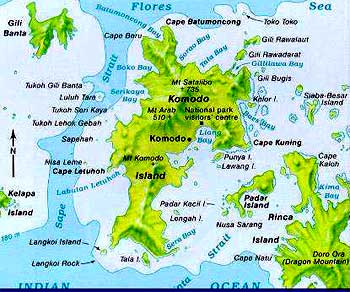 map of the komodo island
