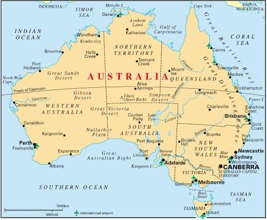 Where Is Australia Located On A Map.Australia Travel Tips Things To Do Map And Best Time To Visit