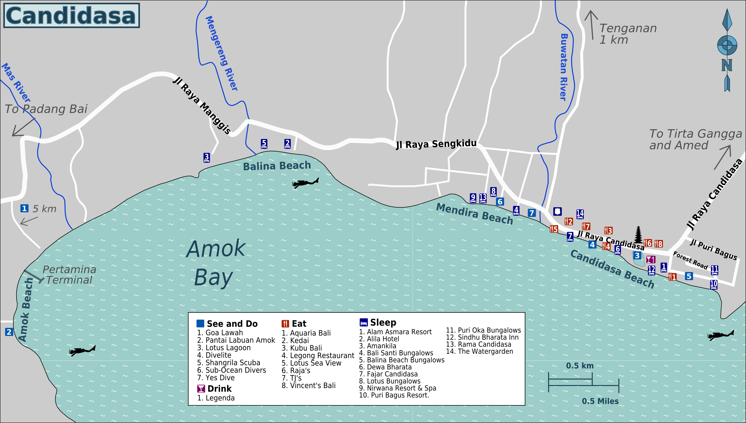 candidasa map