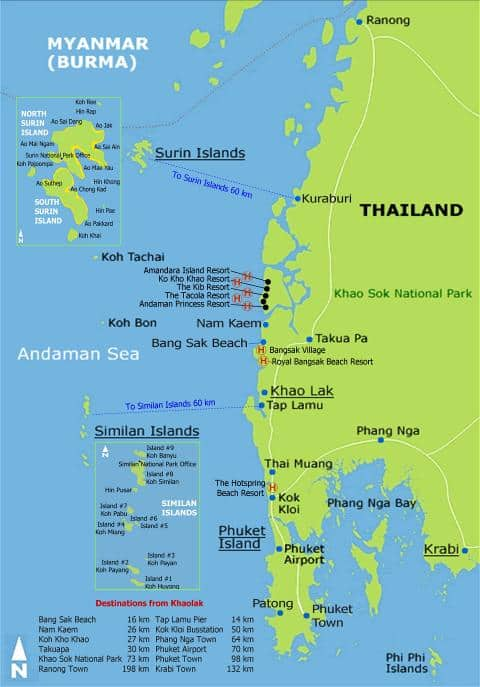 Khao Lak Travel Tips Thailand Things to do Map and Best Time to