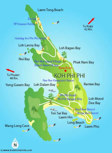 Koh Phi Phi Thailand  city photo : Koh Phi Phi Travel Tips – Thailand Things to do, Map and Best Time ...