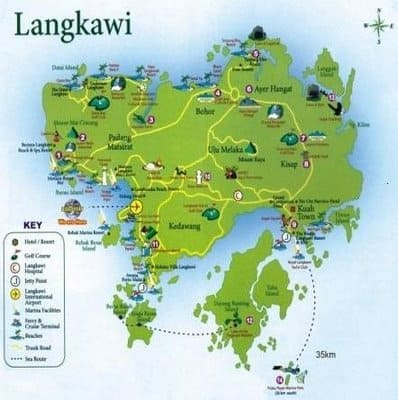 Langkawi Island Travel Tips Malaysia Things To Do Map