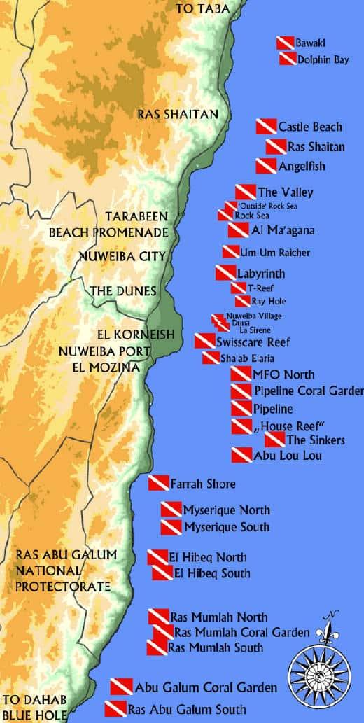 nuweiba map