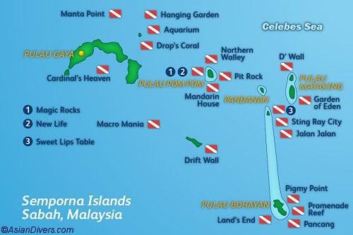 pom pom island travel tips  u2013 malaysia things to do  map