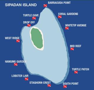 sipadan map