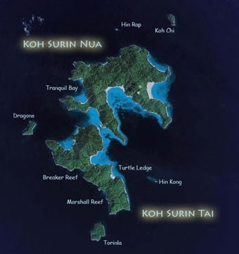 surin islands map