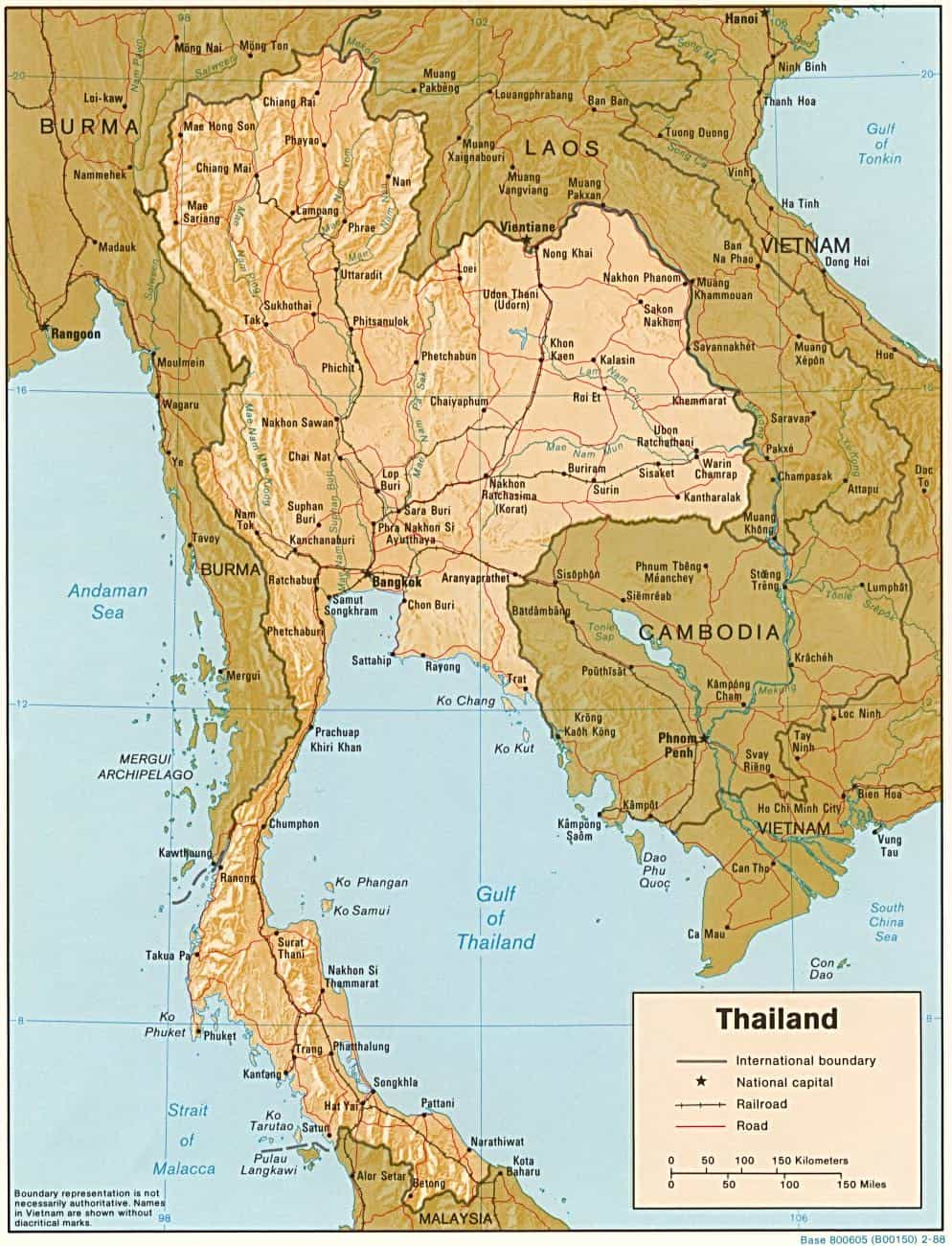 Thailand Travel Tips Things to do Map and Best Time to visit – Thailand Tourist Map