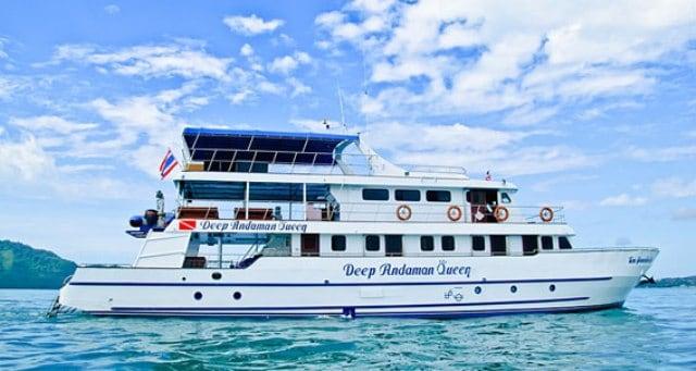 M/V Deep Andaman Queen Similan island thailand liveaboard