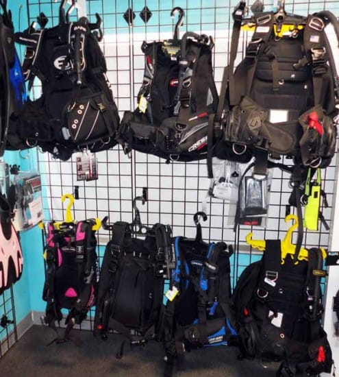 BCDs of various styles and designs are available on diveshops/centers to cater to the different needs and preferences of divers.