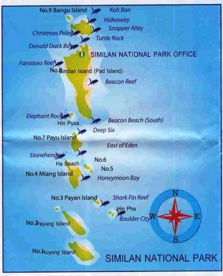 Similan-Islands-Map