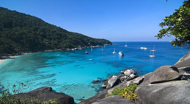 Similan Islands is not only popular for SCUBA Diving as it is one of the favorite sites for sailing as well!
