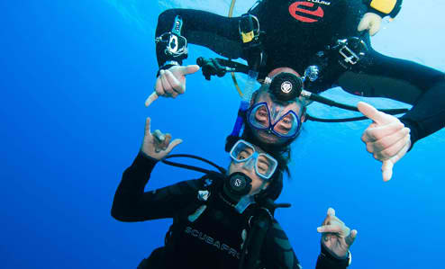 The best thing about SCUBA diving? You don't even realize that you're working out since you're having so much fun!