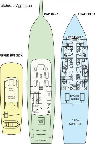 layout of the maldives aggressor boat
