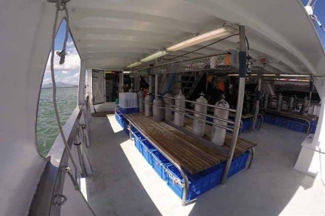 solomon islands taka liveaboard dive deck