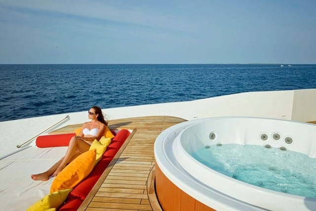 MV Blue Force One Jacuzzi and Sun Deck