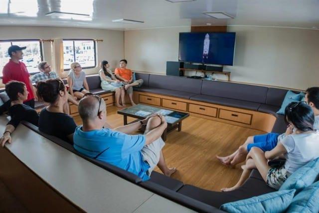 MV Diverace Class E Saloon and Media Centre