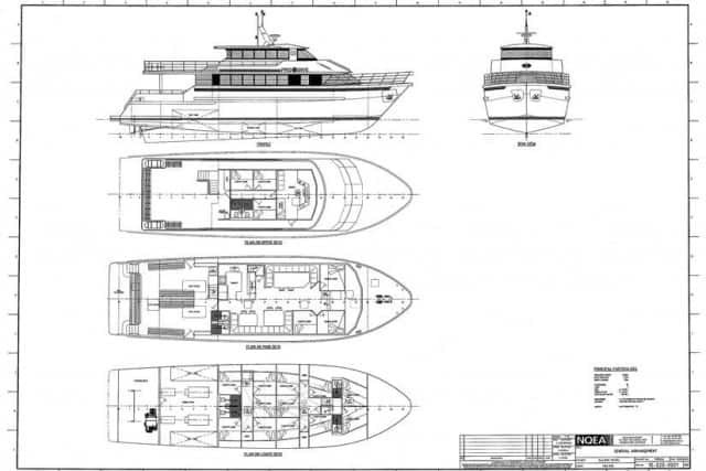 MV Scubapro II Deck Plan