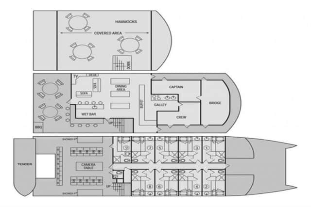 Rock Islands Aggressor Floor Plan