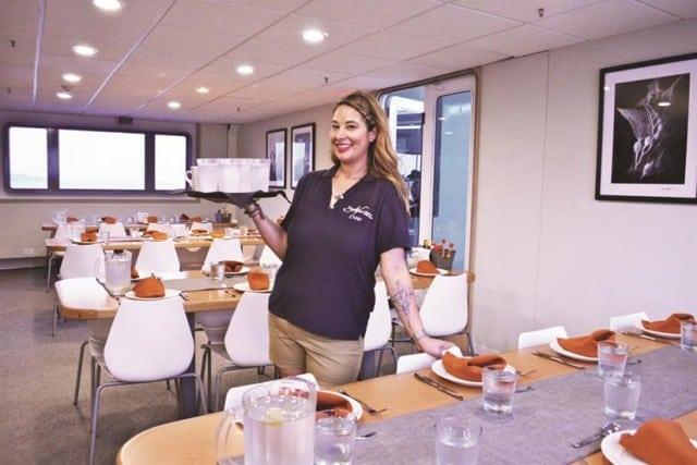mv nautilus belle amie dining area liveaboard review