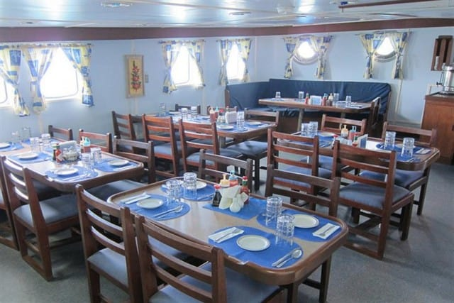 ss thorfinn dining area liveaboard review