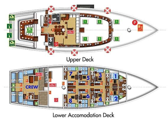 sy palau siren deck plan liveaboard review