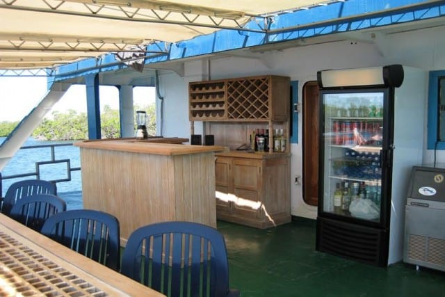 tortuga dining and bar area liveaboard review
