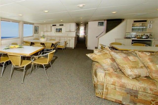 mv turks & caicos explorer saloon dining area liveaboard review