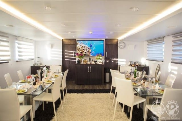mv red sea aggressor dining room liveaboard review