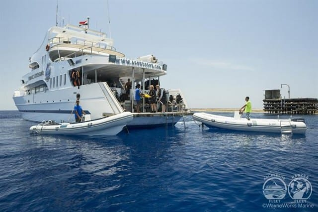 mv red sea aggressor exterior stern liveaboard review