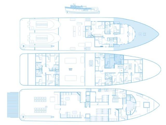 mv sea hunter deck plan liveaboard review