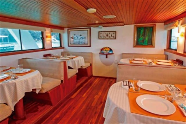 mv astrea dining area liveaboard review