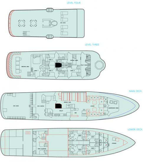 mv galapagos aggressor III deck plan liveaboard review