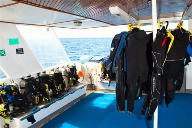 mv galapagos aggressor III dive deck 2 liveaboard review