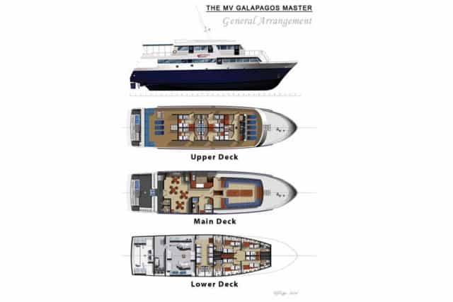 mv galapagos master deck plan liveaboard review