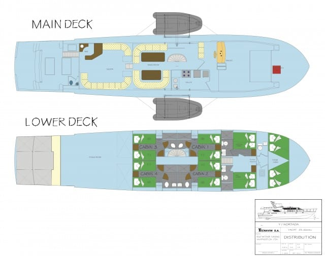 mv nortada floor plan liveaboard review