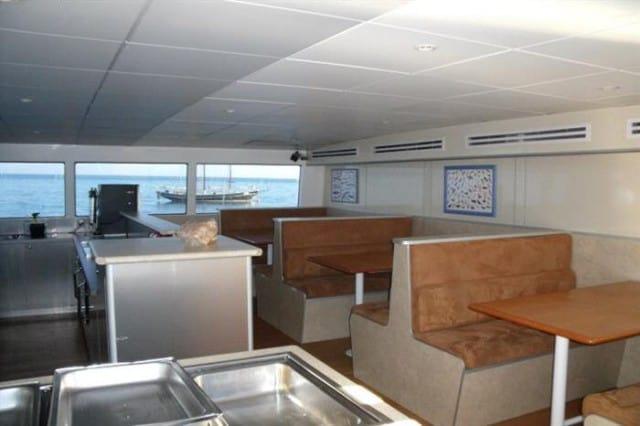 mv odyssey indoor dining area liveaboard review