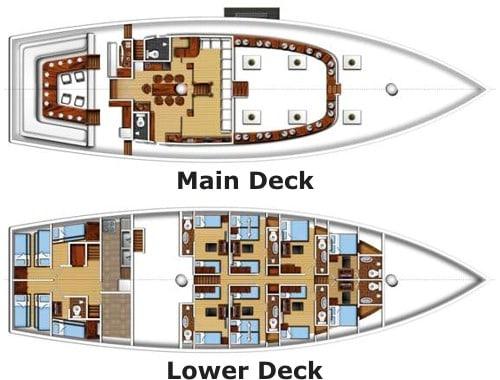 msy fiji siren deck plan liveaboard review