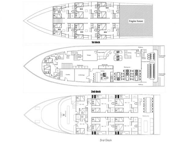 mv adora deck plan liveaboard review