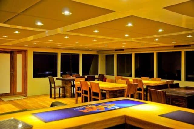 mv adora dining area liveaboard review