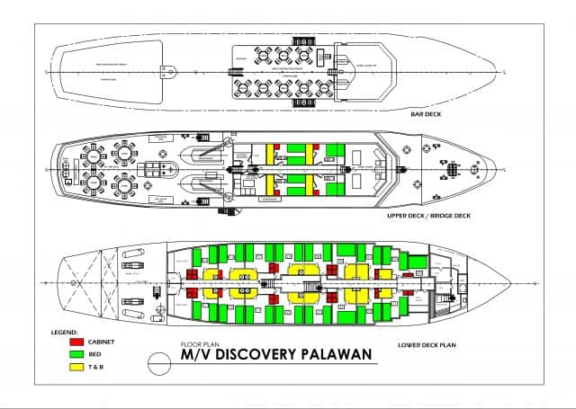 mv discovery palawan deck plan liveaboard review