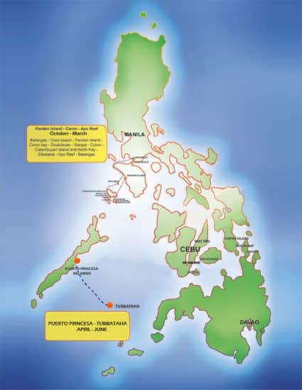 mv discovery palawan route plan liveaboard review