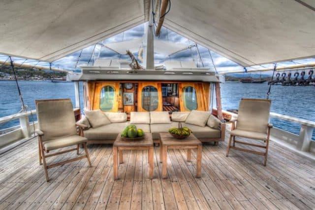 mv duyung baru top deck relaxing area liveaboard review