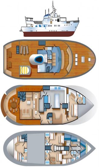 mv pelagian deck plan liveaboard review