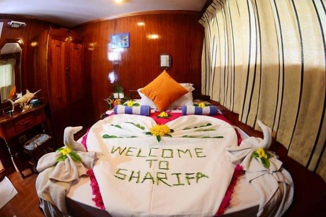 mv sharifa cabin liveaboard review