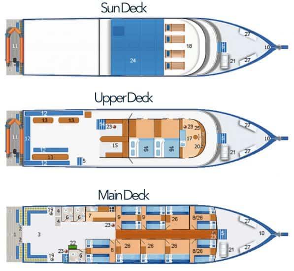 mv similan explorer deck plan liveaboard review