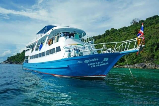mv similan explorer budget liveaboard similan islands