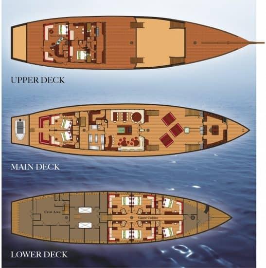 mv waow deck plan liveaboard review