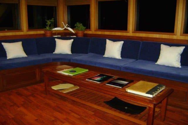 mv sachika lounge area liveaboard review