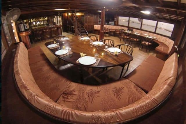 mv amba dining area liveaboard review